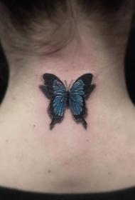 蝴蝶纹身女  漫天飞舞的蝴蝶纹身图案