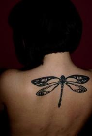蜻蜓纹身图案   轻巧清新的蜻蜓纹身图案