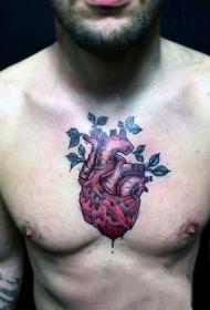 心脏纹身图案   真实而又血腥的心脏纹身图案