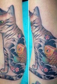 小猫咪纹身  多款设计风格各异的小猫咪纹身图案