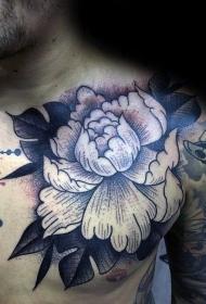 紋身牡丹花   富貴大氣的牡丹花紋身圖案