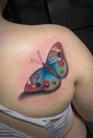 纹身蝴蝶女   偏偏飞舞的蝴蝶纹身图案