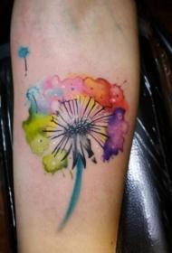 蒲公英紋身  清新而又美麗的蒲公英紋身圖案