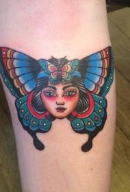 蝴蝶纹身图片    翩翩飞舞的蝴蝶纹身图案