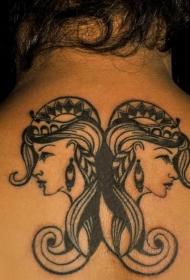 纹身双子座   创意而又百变的双子座纹身图案