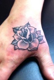 手部纹身图  多款黑色的手部纹身图案