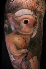兔子纹身图案  呆萌可爱的兔子纹身图案