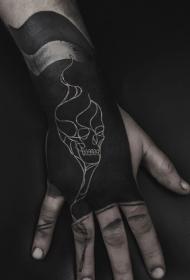 黑白纹身图案大全  多款黑白纹身骷髅图案和平安彩票开奖网几何纹身图案