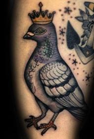 鸽子纹身   传递情谊与信件的鸽子纹身图案