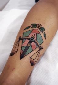 天秤纹身图案 神秘的天秤元素纹身图案