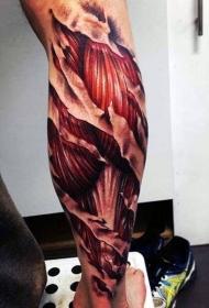 纹身彩绘图片   细腻描绘的解剖纹身图案