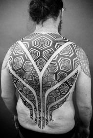 后背紋身男   設計感十足的后背紋身圖案