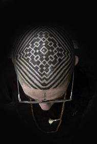 头部纹身图案  炫酷而又个性的头部纹身图案