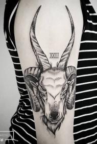 摩羯座纹身图案   意义性十足的星座纹身图案