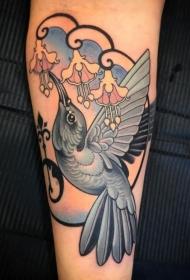 手臂上小清新纹身图案 手臂上多款不同风格的小动物纹身和小清新植物纹身图案