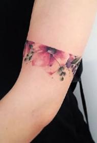 臂环纹身-适合男生女生环绕手臂和脚上的纹身图案