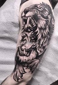 男性手臂newschool纹身_18张男性手臂上黑灰newschool纹身图案图片
