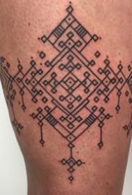 经典纹身图案-黑灰素描点刺技巧创意文艺结纹经典纹身图案