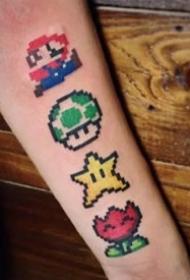 像素纹身图案-还记得小时候玩的电玩吗小图案纹身图片
