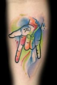 手势纹身_9张手的动作手势纹身图案作品图片