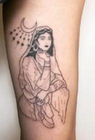 人物点刺纹身-9张黑色异域风的点刺纹身图案