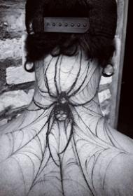 大蜘蛛纹身_一组9张漂亮的蜘蛛纹身图案作品图片