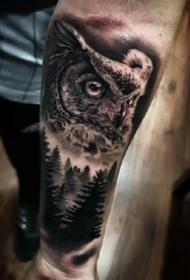 9张精品欧美大黑灰写实纹身图案作品