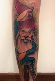 有趣的纹身图案-10张身材矮小的小矮人纹身图案