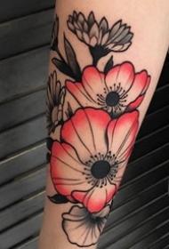 花朵纹身图案-20张身体各个平安线路导航传统彩绘纹身图案