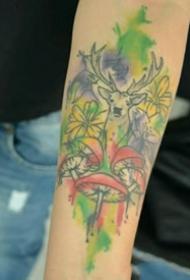动物纹身图案-10张身体各个平安线路导航彩绘纹身或黑白纹身风格的动物纹身图案