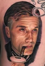 写实作品--一组彩色逼真电影角色的写实纹身图案