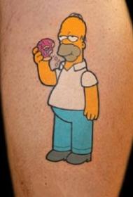 辛普森紋身--卡通動畫角色辛普森的黃色紋身圖案