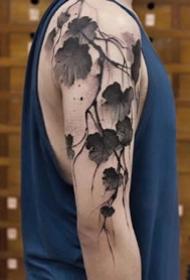 漂亮的水墨中国风纹身图案一组12张