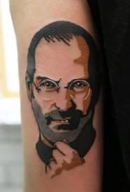 欧美old school风格的黑色人像纹身图案