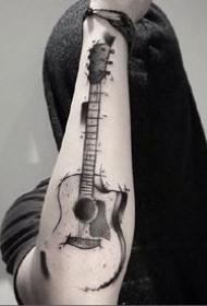 9张乐器吉他相关的纹身图案作品图片