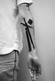 极简几何纹身 --来自莫斯科纹身师 Stanislaw Wilczynski 的纹身图案