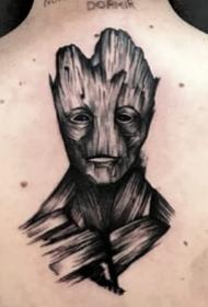 酷炫的一组漫威英雄角色纹身图案欣赏