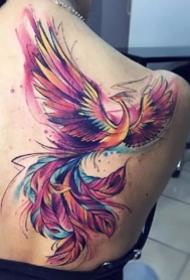 凤凰刺青图--很漂亮的一组凤凰纹身图案