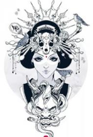 9張藝妓相關的藝伎紋身手稿和圖案作品欣賞