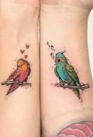 恋人纹身--唯美的一组小清新平安彩票网成对纹身图案