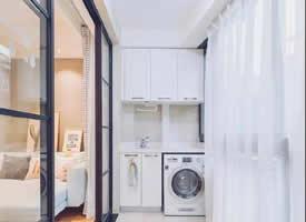 阳台洗衣房也可以做的漂亮好看