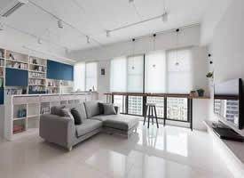 白色主色调干净清爽的现代简约风格装修效果图