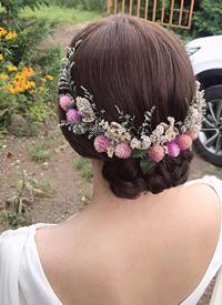 特别仙的九款新娘花朵编发图片