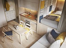 25㎡迷你單身公寓設計,麻雀雖小五臟俱全