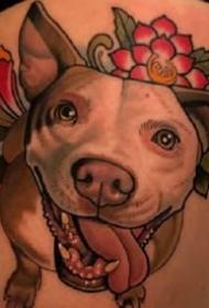 狗狗纹身--很可爱的一组小狗狗纹身图案9张