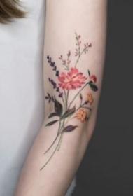 清新淡雅的一组花卉小清新纹身图案