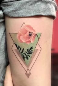 几何三角形的一组图形纹身图案作品9张