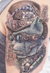 大臂上的一组国外精美纹身图案作品9张