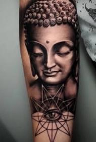 9张手臂上很不错的佛像纹身图案作品图片