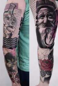 虚幻的垃圾波尔卡纹身图案--波兰当代纹身艺术家Timur Lysenko 作品